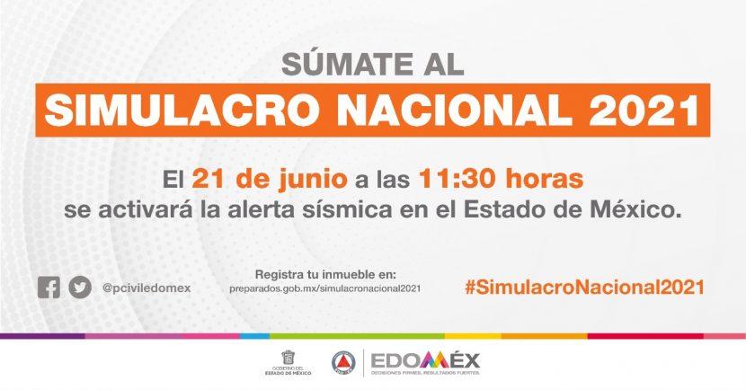 ANUNCIAN  SIMULACRO SÍSMICO NACIONAL EL PRÓXIMO 21 DE JUNIO