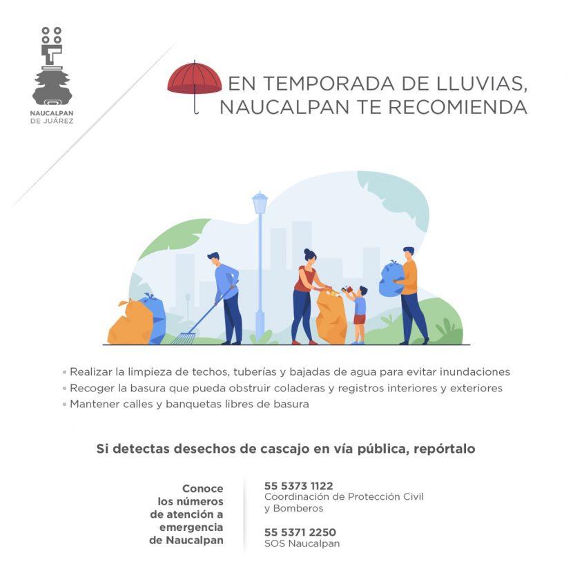 PIDE NAUCALPAN EXTREMAR PRECAUCIONES ANTE LLUVIAS