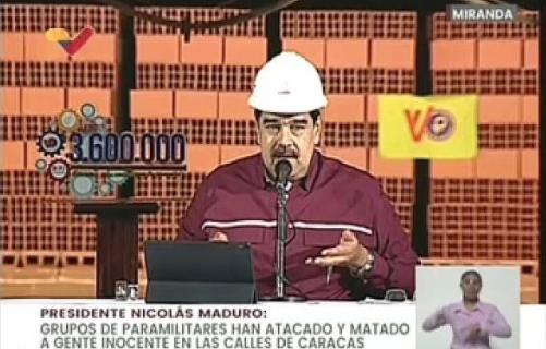 MADURO DISPUESTO A NEGOCIAR CON LA OPOSICIÓN