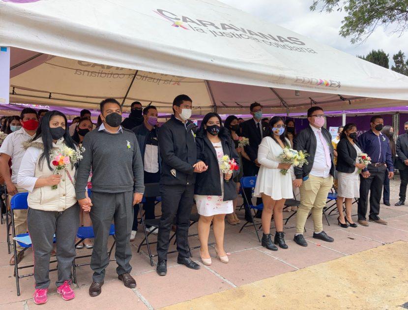 CONSTRUYE EDOMÉX FAMILIAS FUERTES CON MATRIMONIOS COLECTIVOS