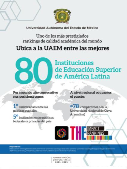 OCUPA UAEM EL LUGAR 78 A NIVEL MUNDIAL EN EDUCACIÓN SUPERIOR