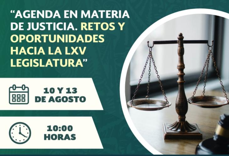 """REALIZAN FORO """"AGENDA EN MATERIA DE JUSTICIA. RETOS Y OPORTUNIDADES HACIA LA LXV LEGISLATURA"""""""