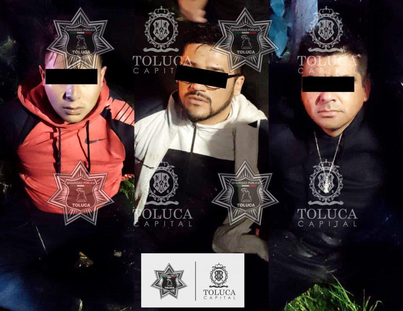 """POLICÍA TOLUCA DETIENE A TRES INTEGRANTES DE """"LOS KIKAS"""""""