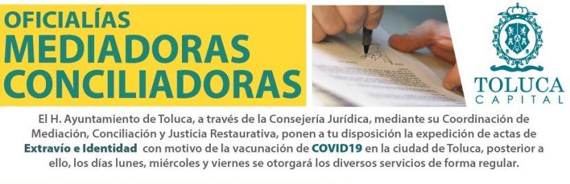 OFICINAS MEDIADORAS CONCILIADORAS DE TOLUCA EN SERVICIO
