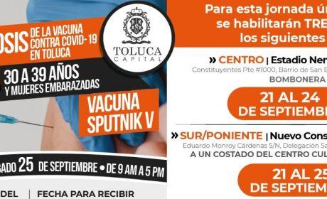 LLEGA A TOLUCA SEGUNDA DOSIS DE VACUNA CONTRA COVID-19