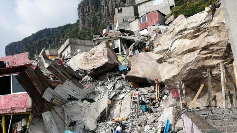 BUSCAN ESTABILIZAR ROCAS DESPRENDIDAS DEL CERRO DEL CHIQUIHUITE