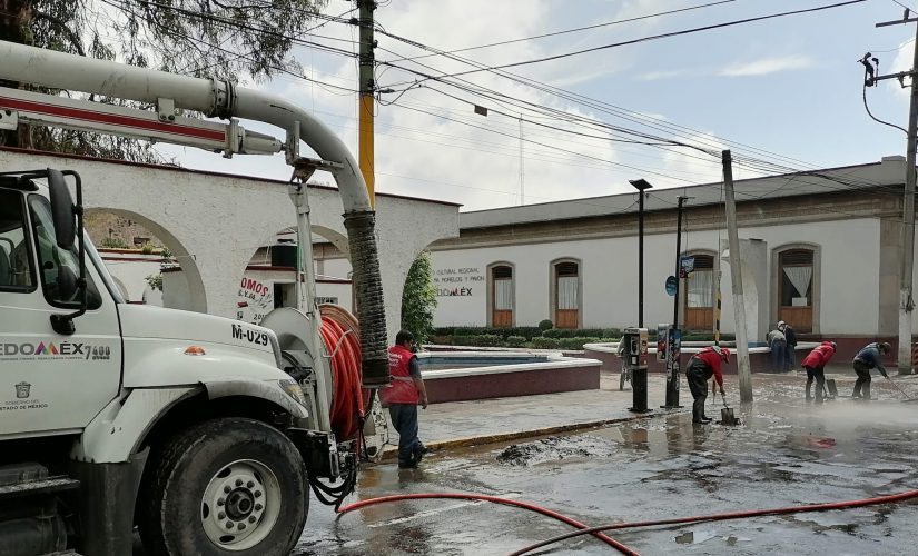 TRABAJA GRUPO TLÁLOC EN MUNICIPIOS DEL VALLE DE MÉXICO AFECTADOS POR LAS LLUVIAS