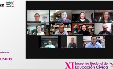 CONCLUYE EL XI ENCUENTRO NACIONAL DE EDUCACIÓN CÍVICA