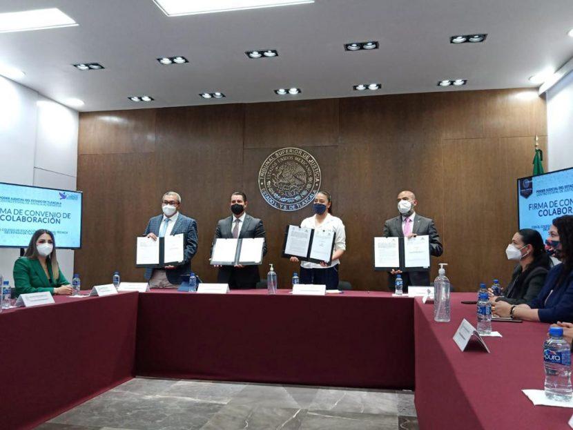FIRMAN CONALEP Y PODER JUDICIAL DE TLAXCALA CONVENIO DE CAPACITACIÓN