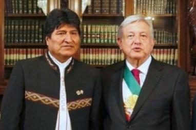 AMLO RECIBE A EVO MORALES EN PALACIO NACIONAL