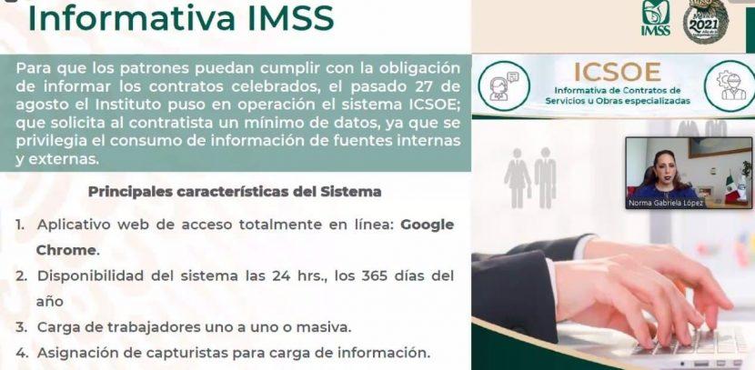 SISTEMA ICSOE PERMITE AL IMSS CONTROL SOBRE CONTRATOS PARA OBRAS ESPECIALIZADAS