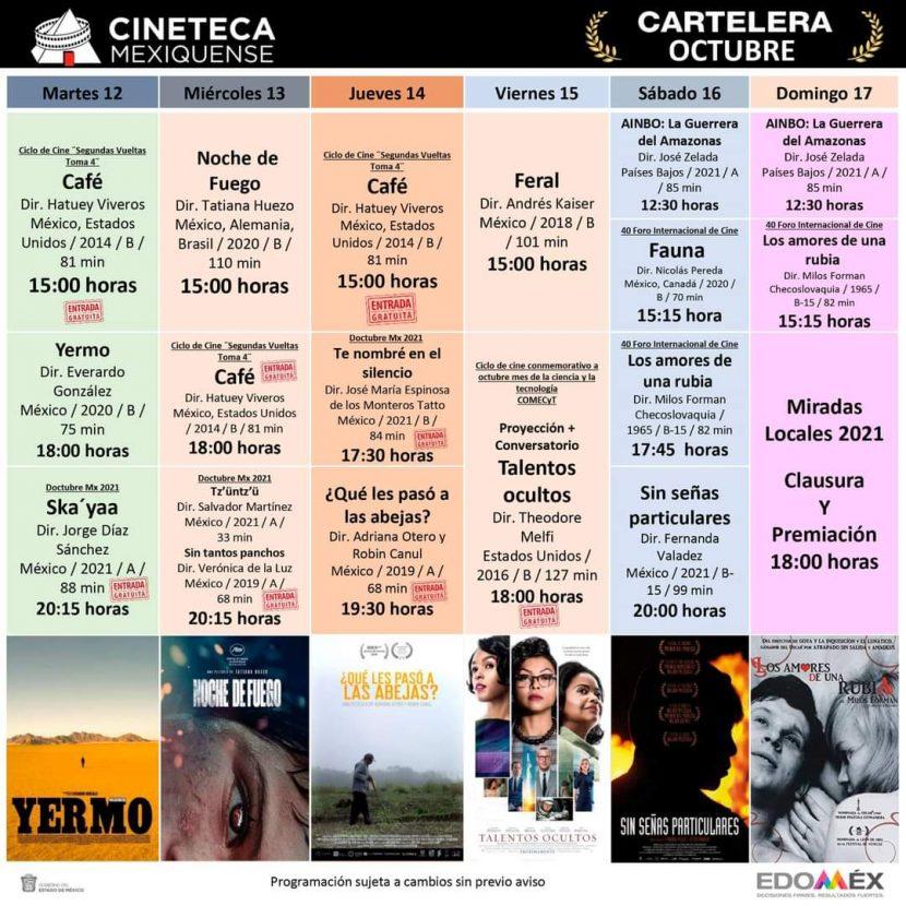 CINETECA MEXIQUENSE PROYECTA FILMES NACIONALES E INTERNACIONALES